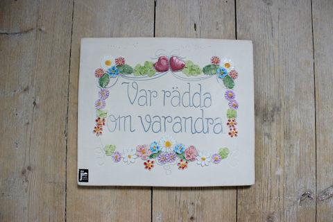 Jie Gantofta(ジィ・ガントフタ)スウェーデン語の陶板(M)2