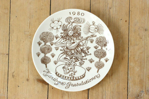 GUSTAVSBERG(グスタフスベリ)コレクターズプレート Gratulation 1980年