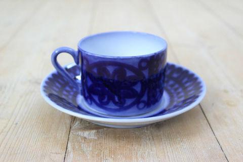 GUSTAVSBERG(グスタフスベリ)/Bla husar(ブローヒューサール)コーヒーカップ&ソーサー2
