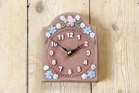 Jie Gantofta(ジィ・ガントフタ)サマーフラワーの時計の陶板(ミニ)