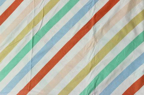 ストライプのレトロファブリックデュベカバー/掛け布団カバー(140×189cm)