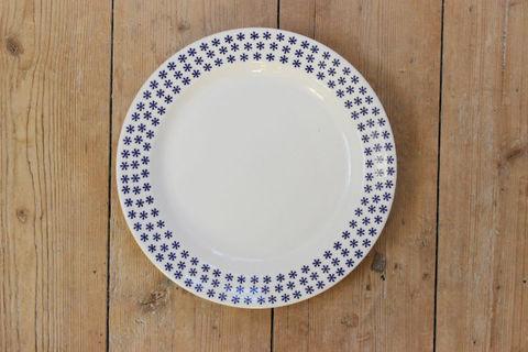 GUSTAFSBERG(グスタフスベリ)BENPORSLIN(ボーンチャイナ)青い小花のプレート18cm