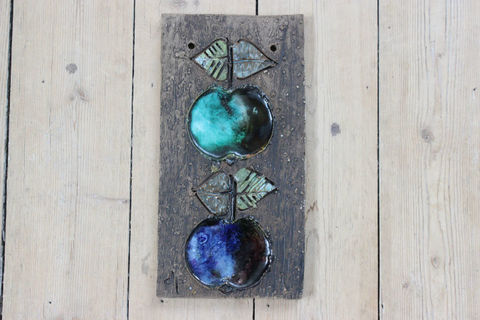 Tilgmans(ティルグマンス)リンゴの陶板(グリーン/ブルー)