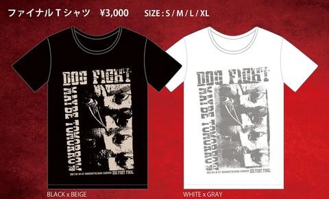 【在庫限り】FINAL Tシャツ(黒×ベージュ/白×グレイ)