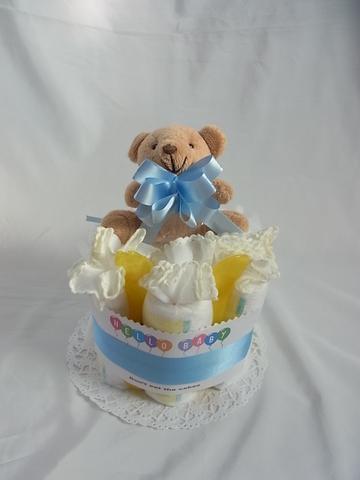 オムツケーキ ホルダーベアーブルー