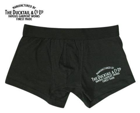 "DUCKTAIL CLOTHING ""COMPANY BOXERS"" BLACK"