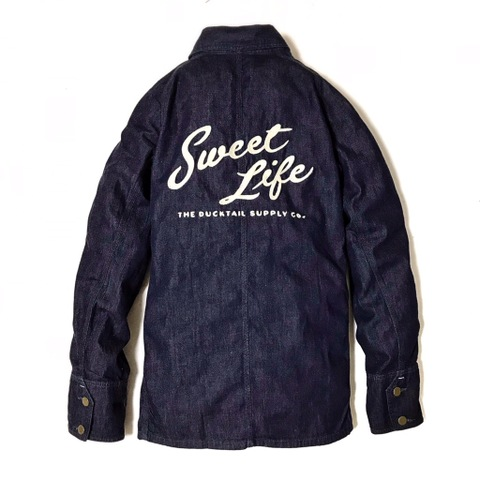 "新作入荷!!DUCKTAIL CLOTHING DENIM COVERALL ""SWEET LIFE"" INDIGO"