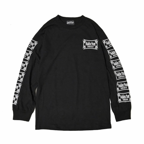 "Addiction KUSTOM THE LIFE LONG SLEEVE TEE ""CROSS"" BLACK"