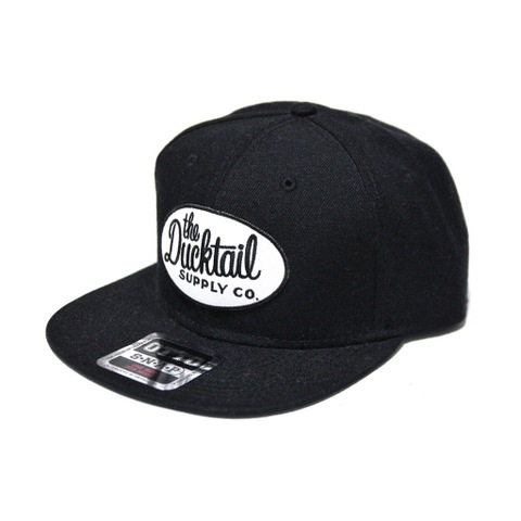 "DUCKTAIL CLOTHING SNAPBACK CAP ""CLASSIC"" BLACK"