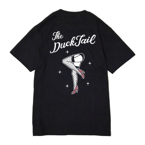"DUCKTAIL CLOTHING ""PIN UP LEGS"" TEE BLACK"