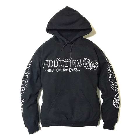 "Addiction KUSTOM THE LIFE ""C/S DICE"" HOODIE BLACK"