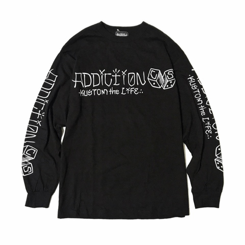 "Addiction KUSTOM THE LIFE LONG SLEEVE TEE ""C/S DICE"" BLACK"