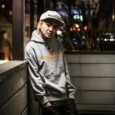 "DUCKTAIL CLOTHING""SIGN HOODIE""HEATHER GRAY"