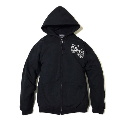 "Addiction KUSTOM THE LIFE ZIP HOODIE ""TWO FACE"" BLACK"