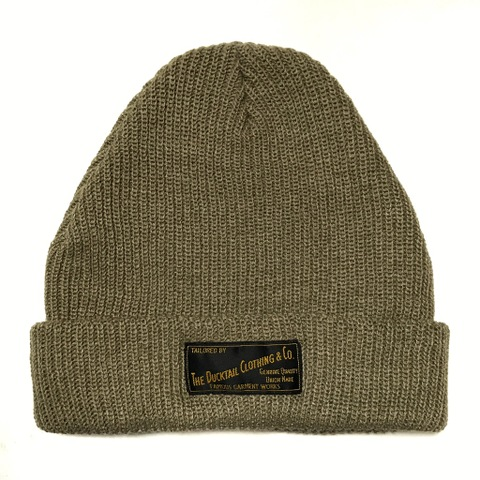 "DUCKTAIL CLOTHING KNIT CAP ""PLAIN"" SAND BEIGE"