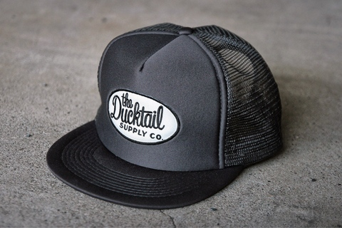 "新作入荷!!DUCKTAIL CLOTHING TRUCKER CAP ""TRUCKIN'"" CHARCOAL"