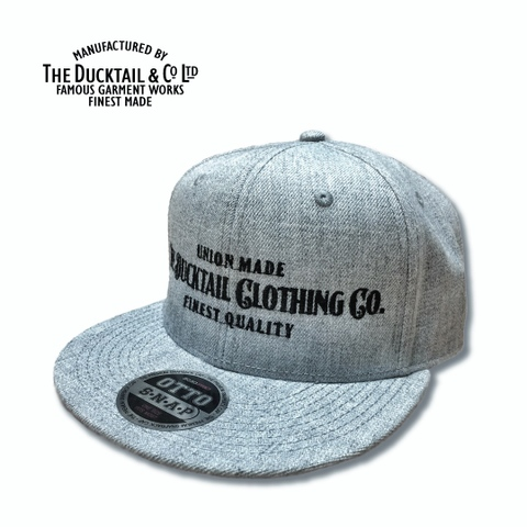 "DUCKTAIL CLOTHING ""SIGN"" SNAPBACK CAP HEATHER GRAY"