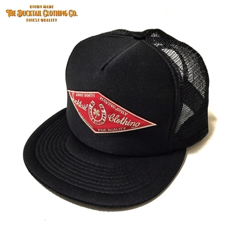 "12月20日再入荷!!DUCKTAIL CLOTHING ""HORSESHOE"" TRUCKER CAP BLACK"