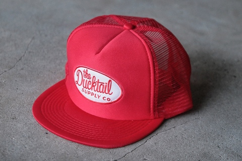 "新作入荷!!DUCKTAIL CLOTHING TRUCKER CAP ""TRUCKIN'"" RED"