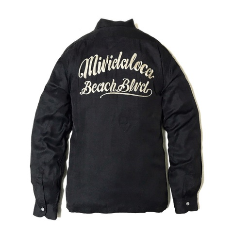 "Addiction KUSTOM THE LIFE RAYON OPEN COLLAR SHIRTS ""MI VIDA LOCA"" BLACK"