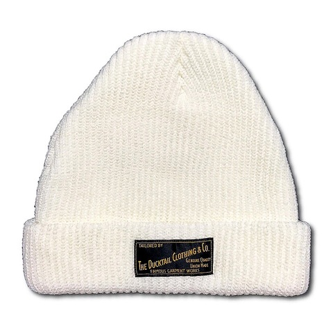 "DUCKTAIL CLOTHING KNIT CAP ""PLAIN"" VANILLA WHITE"