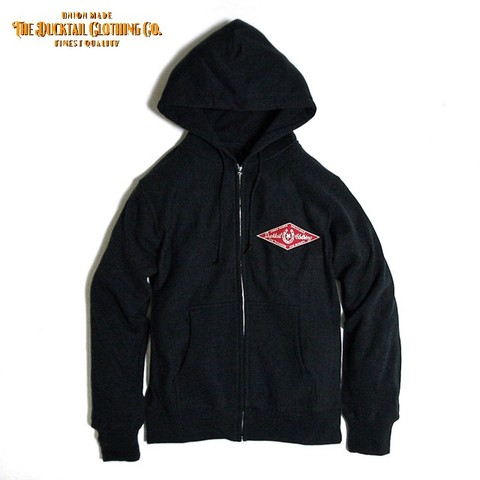 "DUCKTAIL CLOTHING ""HORSESHOE"" ZIP HOODIE BLACK"