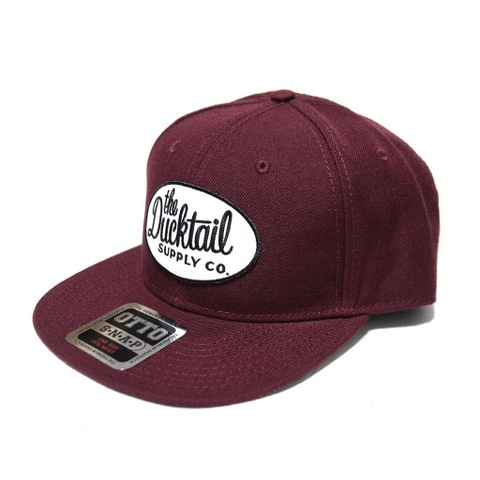 "DUCKTAIL CLOTHING SNAPBACK CAP ""CLASSIC"" BURGUNDY"