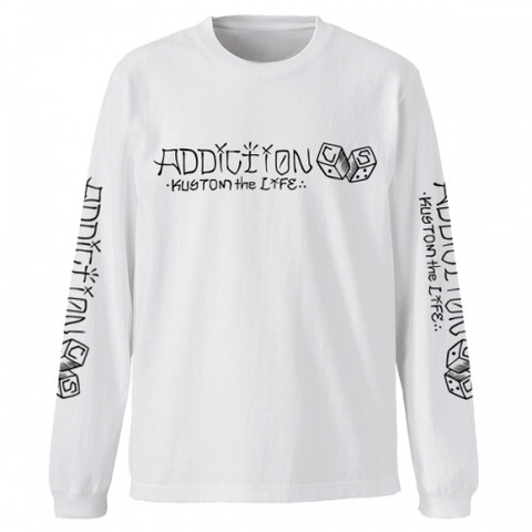 "Addiction KUSTOM THE LIFE LONG SLEEVE TEE ""C/S DICE"" WHITE"