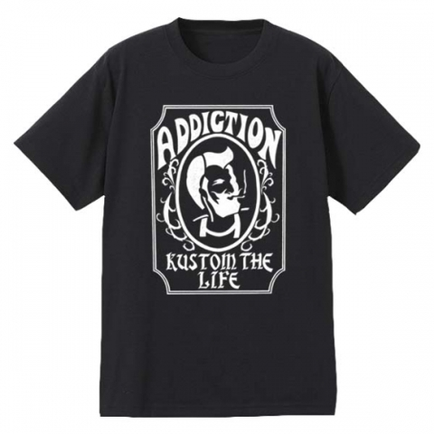 "Addiction KUSTOM THE LIFE SHORT SLEEVE TEE ""Zig Zag"" BLACK"