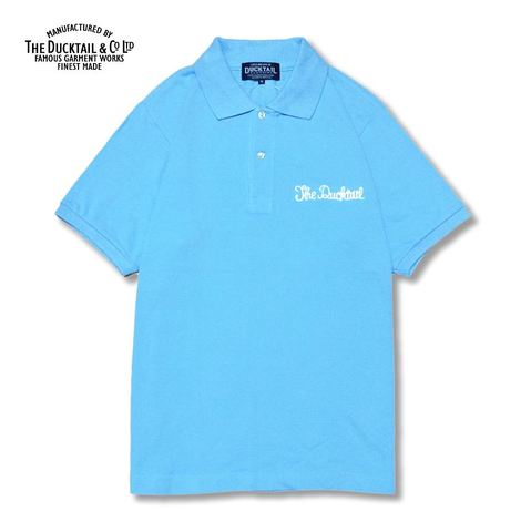 "DUCKTAIL CLOTHING ""PARADISE POLO"" LIGHT BLUE"