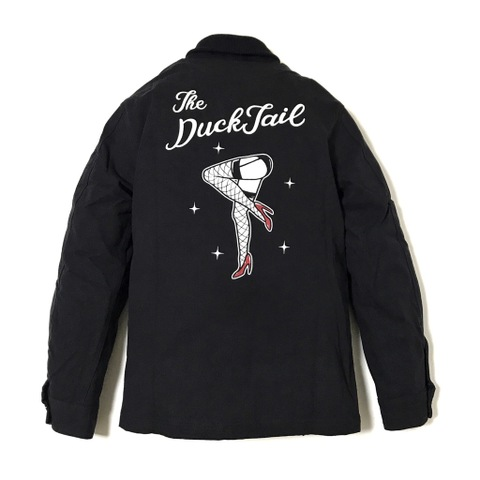 "DUCKTAIL CLOTHING ""PIN UP LEGS"" DUCK CLUB JACKET BLACK"