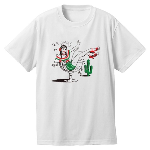"Addiction kustom the life ""Borracha"" Tee WHITE"
