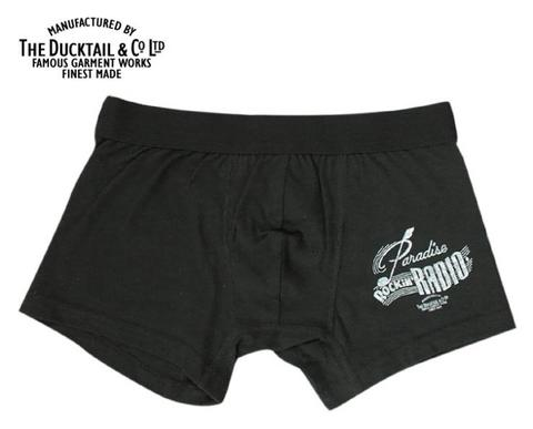 "DUCKTAIL CLOTHING ""PARADISE BOXERS""  BLACK"