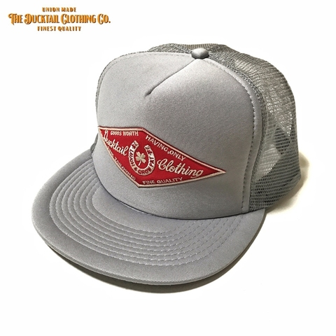 "DUCKTAIL CLOTHING ""HORSESHOE"" TRUCKER CAP GRAY"