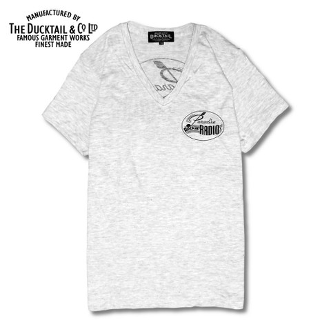 "DUCKTAIL CLOTHING ""PARADISE V-NECK"" IVORY"