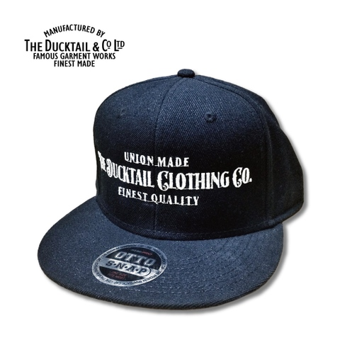 "DUCKTAIL CLOTHING ""SIGN"" SNAPBACK CAP BLACK"
