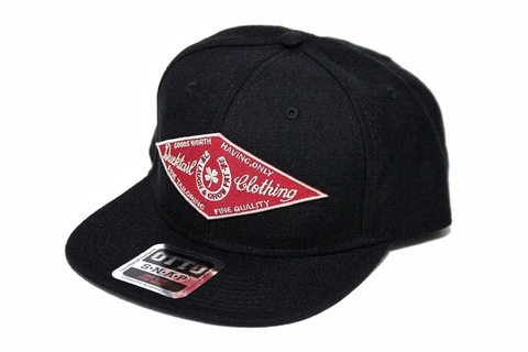 "DUCKTAIL CLOTHING SNAPBACK CAP ""HORSESHOE"" BLACK"