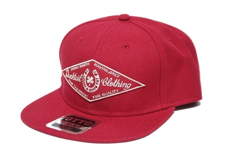 "DUCKTAIL CLOTHING SNAPBACK CAP ""HORSESHOE"" RED"