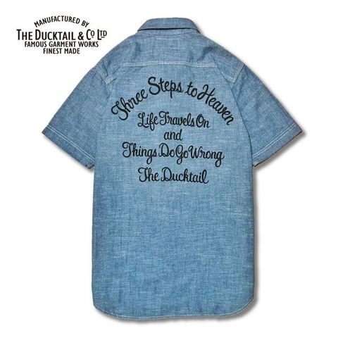 "DUCKTAIL CLOTHING ""THREE STEPS CHAMBRAY "" BLUE"