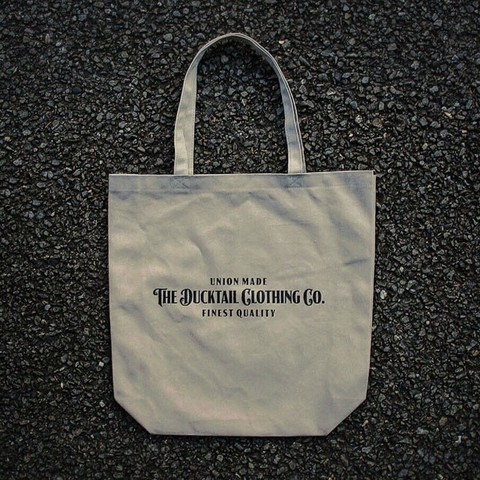 "DUCKTAIL CLOTHING ""SIGN TOTE"" KHAKI"