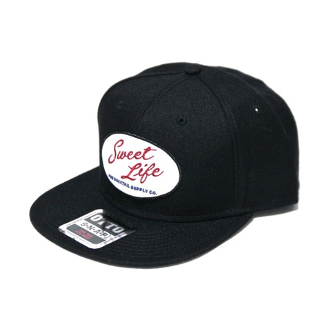 "DUCKTAIL CLOTHING SNAPBACK CAP ""SWEET LIFE"" BLACK"