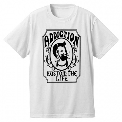 "Addiction KUSTOM THE LIFE SHORT SLEEVE TEE ""Zig Zag"" WHITE"