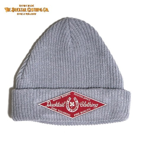 "DUCKTAIL CLOTHING ""HORSESHOE"" KNIT CAP GRAY"