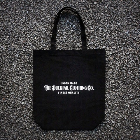 "DUCKTAIL CLOTHING""SIGN TOTE""BLACK"
