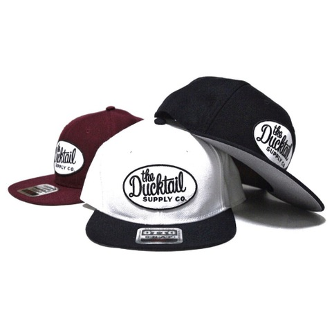 "DUCKTAIL CLOTHING SNAPBACK CAP ""CLASSIC"" WHITE×BLACK"