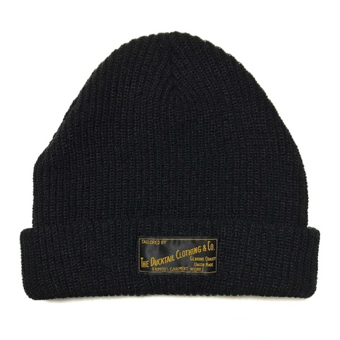 "DUCKTAIL CLOTHING KNIT CAP ""PLAIN"" BLACK"