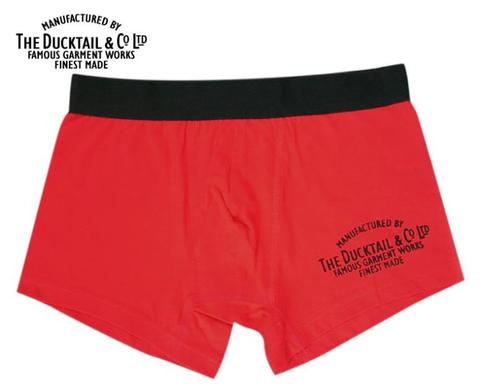 "DUCKTAIL CLOTHING ""COMPANY BOXERS"" RED"