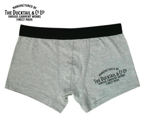 "DUCKTAIL CLOTHING ""COMPANY BOXERS"" GRAY"