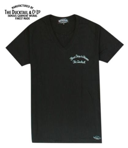 "DUCKTAIL CLOTHING ""THREE STEPS TO HEAVEN V-NECK"" BLACK"