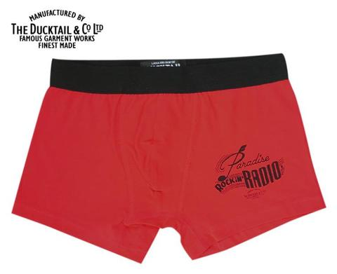 "DUCKTAIL CLOTHING ""PARADISE BOXERS"" RED"